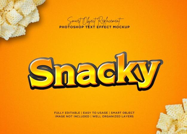 Effet de texte snack style 3d PSD Premium