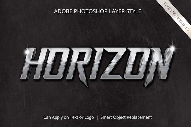 Effet de texte de style de calque adobe photoshop PSD Premium