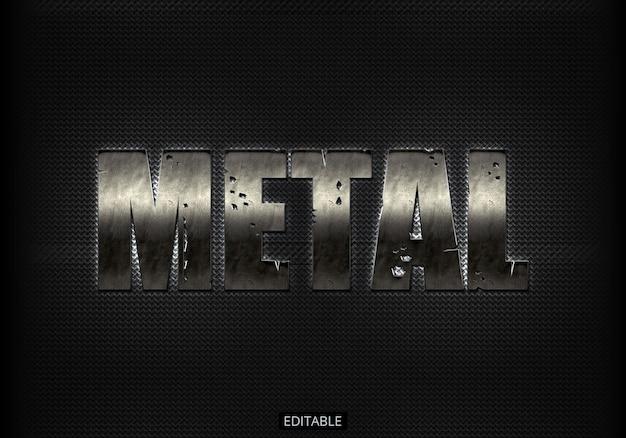 Effet de texte avec style métallique PSD Premium
