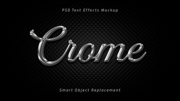 Effets De Texte 3d Crome PSD Premium