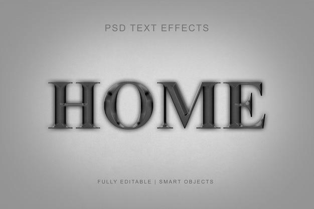 Effets de texte de style moderne en métal PSD Premium