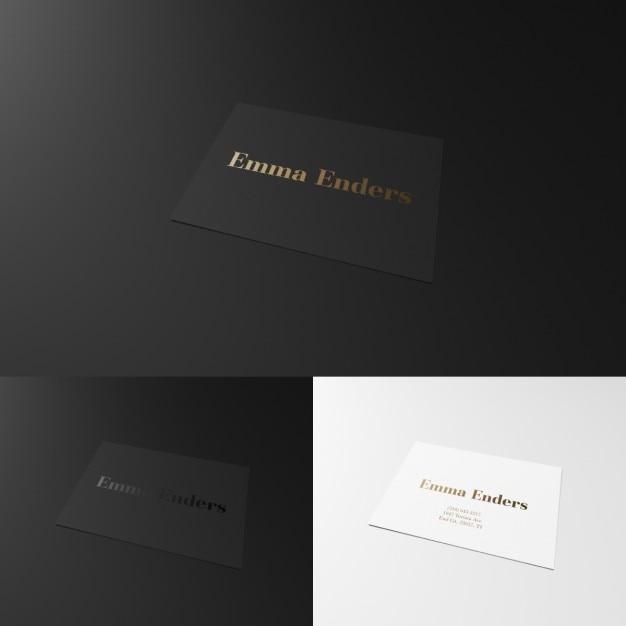 Elegant Carte De Visite En Noir Et Blanc