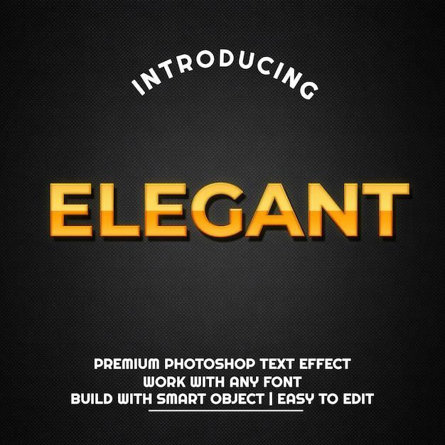 Elegant gold metal - modèle d'effet de texte PSD Premium