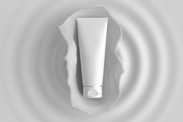 Emballage cosmétique lotion splash maquette soins de la peau PSD Premium