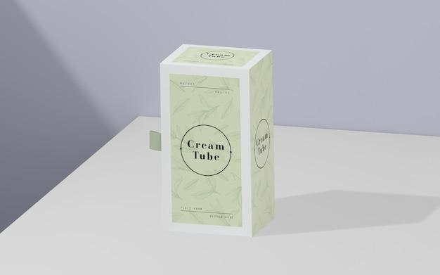 Emballage vert de produits cosmétiques Psd gratuit