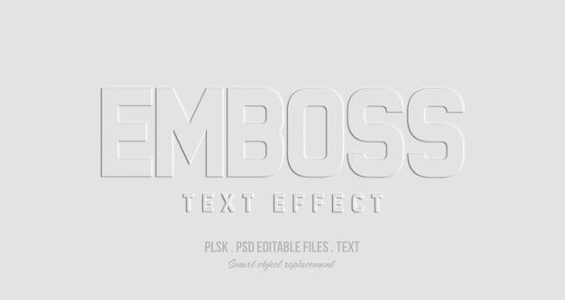 Emboss 3d maquette d'effet de style de texte PSD Premium