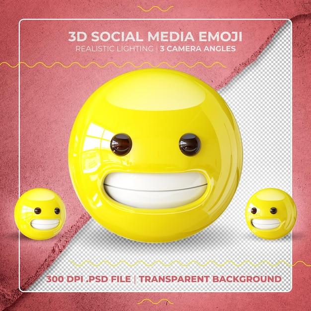 Emoji 3d Maladroit Isolé PSD Premium
