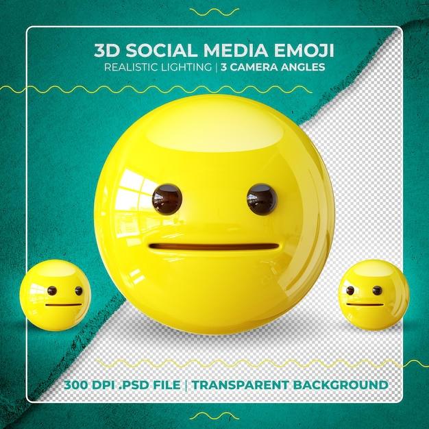 Emoji 3d Perplexe Isolé PSD Premium
