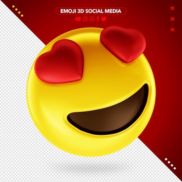 Emoji Coeur 3d Pour Le Maquillage PSD Premium