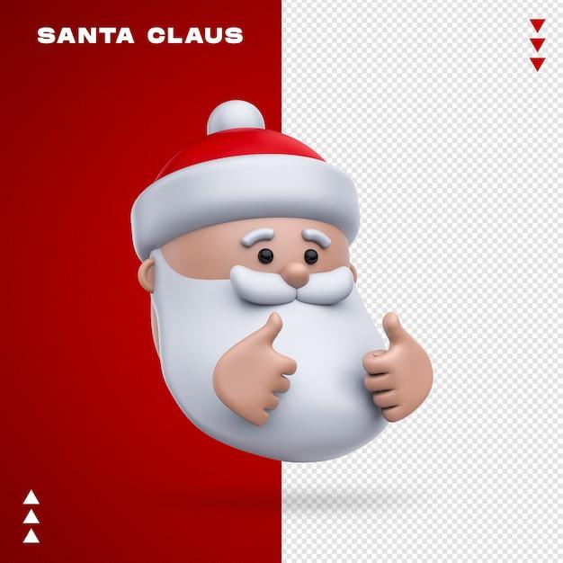 Emoji Du Père Noël Dans Le Rendu 3d PSD Premium
