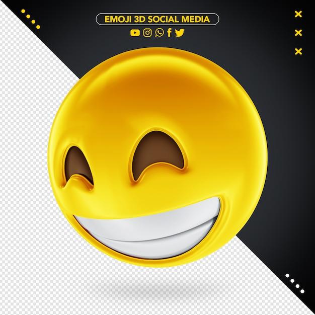 Emoji De Médias Sociaux 3d Pour La Composition PSD Premium
