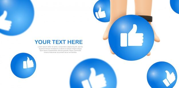 Emoji De Soins Les Mains Tiennent Une Emoticone Facebook Jaune Psd Premium