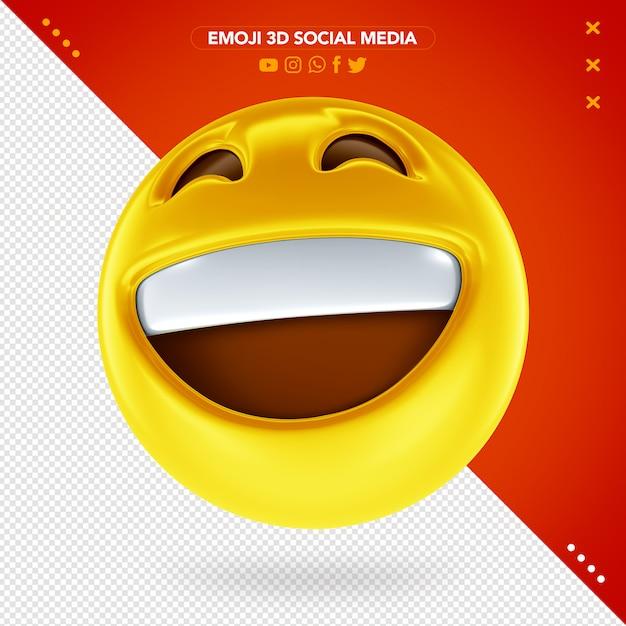 Emoji Visage Heureux 3d PSD Premium