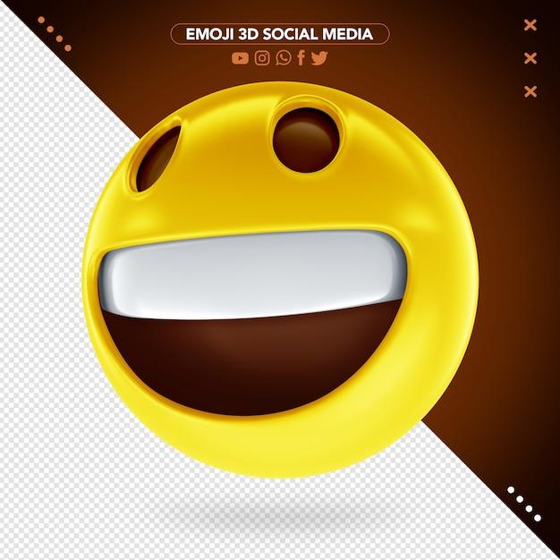 Emoji Visage Souriant 3d Avec Des Yeux Joyeux PSD Premium