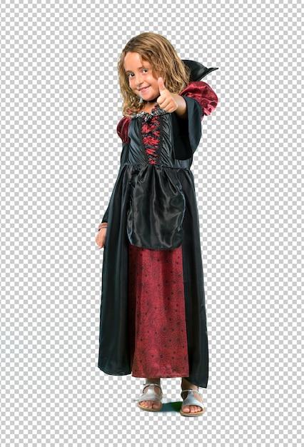 Enfant habillé en vampire lors des fêtes d'halloween PSD Premium