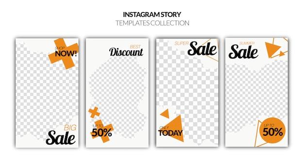 Ensemble de bannière de vente d'histoires instagram Psd gratuit