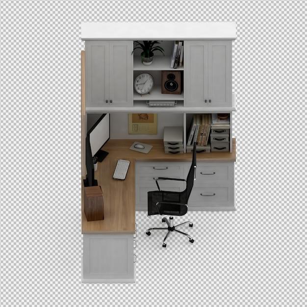 Ensemble de mobilier de bureau PSD Premium