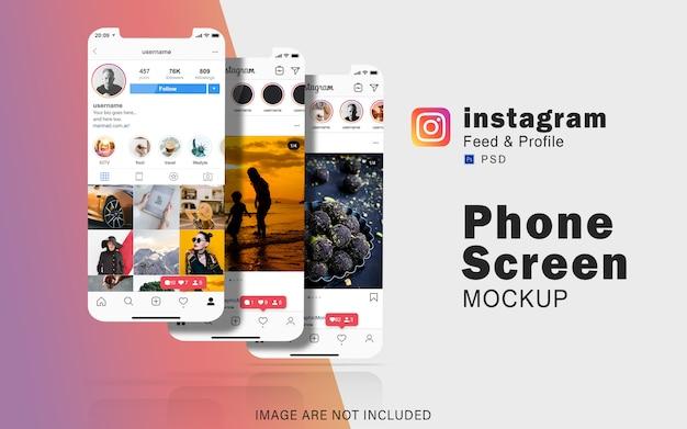 Ensemble De Modèles D'écran De Téléphone PSD Premium