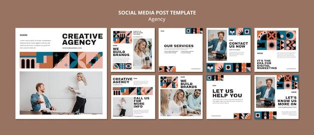 Ensemble De Posts Instagram Design Suisse Psd gratuit