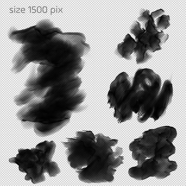 Ensembles de pinceaux à l'aquarelle hd PSD Premium