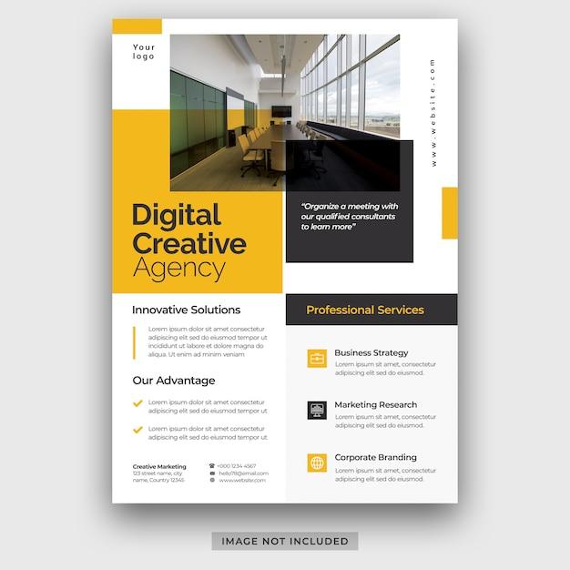 Entreprise Moderne Entreprise A4 Flyer Affiche Modèle Brochure Couverture Conception Mise En Page Psd Premium Psd PSD Premium
