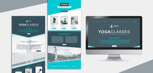 Équilibrez Votre Page De Destination De Cours De Yoga Psd gratuit