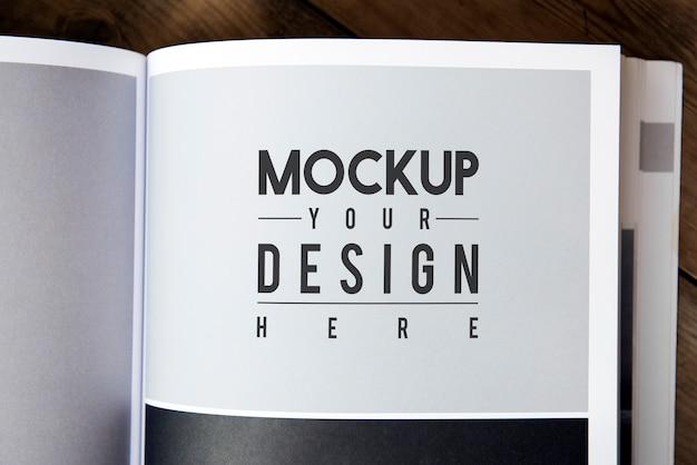 Espace de conception sur la page du magazine Psd gratuit