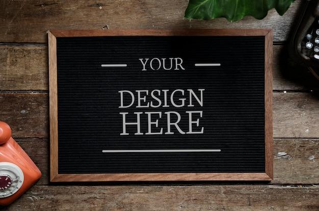 Espace de conception sur tableau noir Psd gratuit