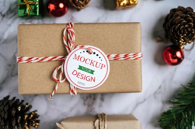 Étiquette De Cadeau De Noël Psd Psd gratuit