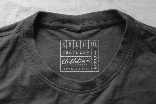 Étiquette Du Col Du T-shirt De La Maquette Du Logo PSD Premium