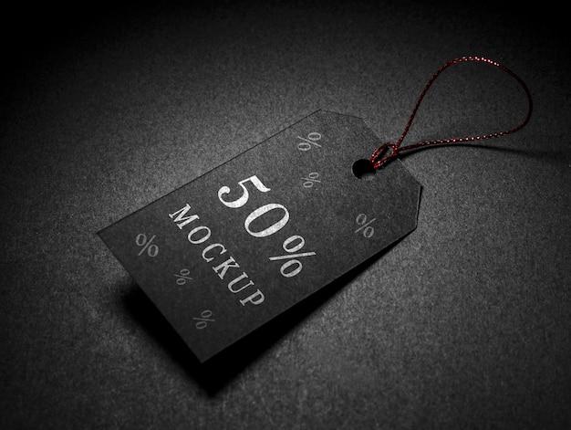 Étiquette De Prix De Réduction De Maquette De Vendredi Noir Psd gratuit