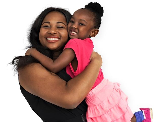 Famille mère fille souriante bonheur amour concept PSD Premium