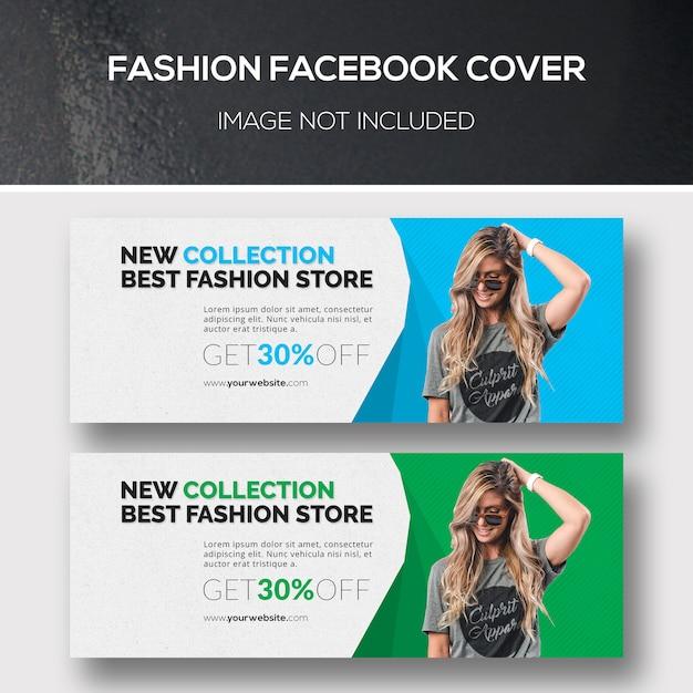 Fashion facebook couverture PSD Premium