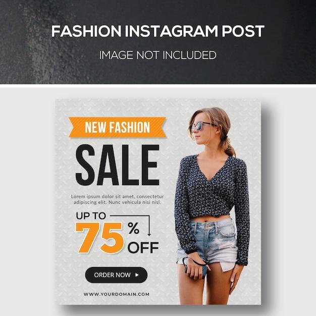 Fashion instagram post ou modèle de bannière carrée PSD Premium