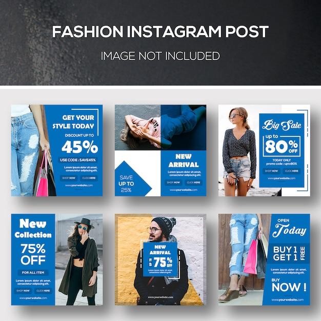 Fashion instagram post ou modèle de bannière PSD Premium