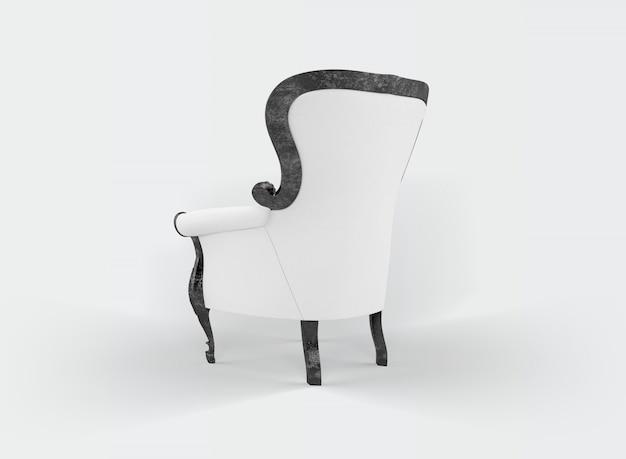 Fauteuil Classique Sur Blanc Psd gratuit