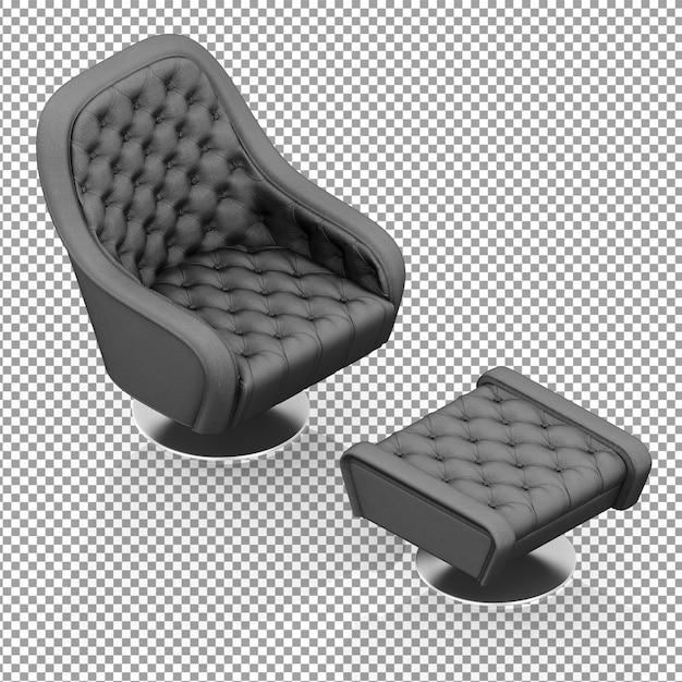 Fauteuil Isométrique Noir Avec Repose-jambes PSD Premium