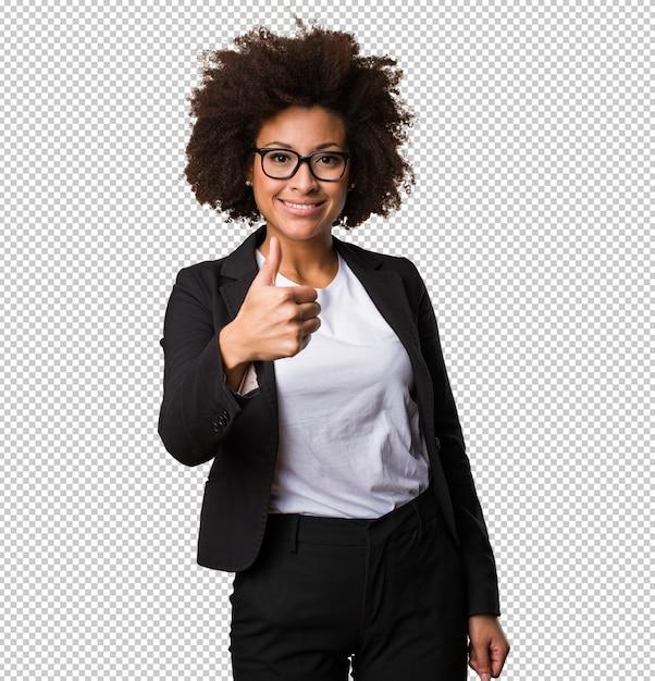 Femme D'affaires Noire Faisant Un Geste Correct PSD Premium