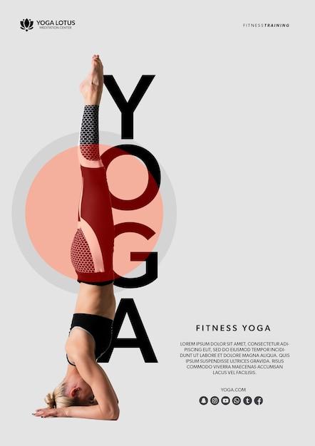 Femme, équilibre, yoga Psd gratuit