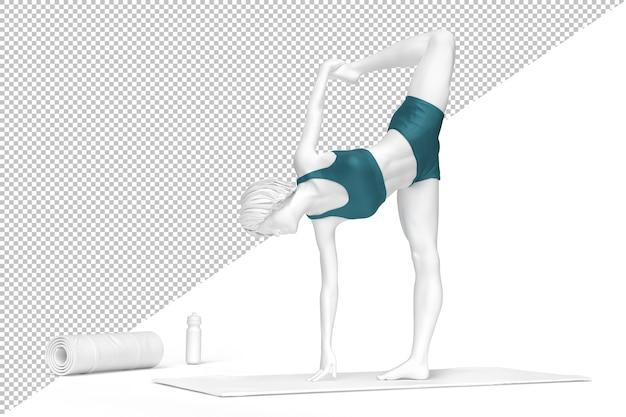 Femme En Natarajasana Ou Seigneur De La Danse Pose Pendant La Pratique Du Yoga PSD Premium