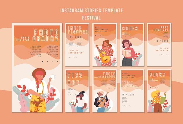 Festival De Modèles D'histoires Instagram Psd gratuit