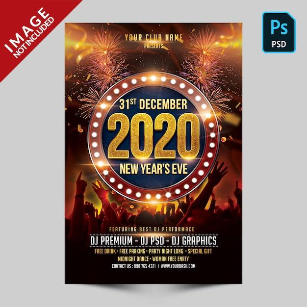 Fête Du Nouvel An PSD Premium