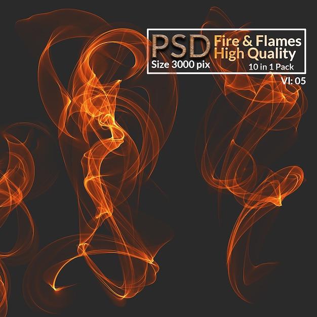 Feu et flammes haute qualité PSD Premium