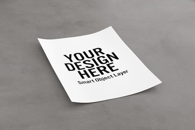 Feuille de papier maquette PSD Premium