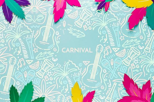 Feuilles De Carnaval Brésilien Coloré Psd gratuit