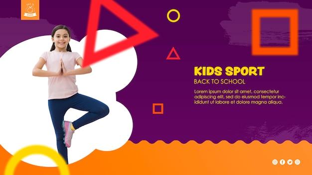 Fille En équilibre Pour Le Modèle De Sport Des Enfants Psd gratuit