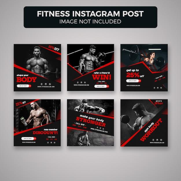 Fitness et gym instagram post banner s PSD Premium