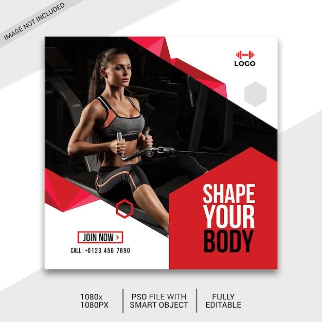 Fitness sur les médias sociaux PSD Premium