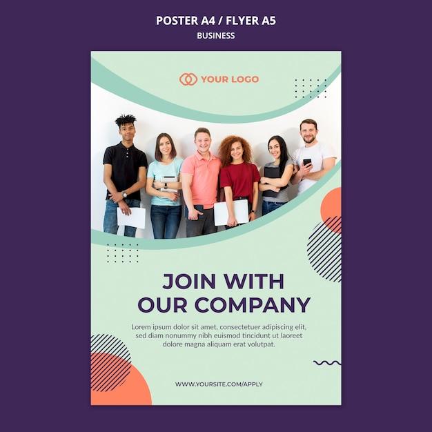 Flyer De Concept D'atelier Commercial Psd gratuit
