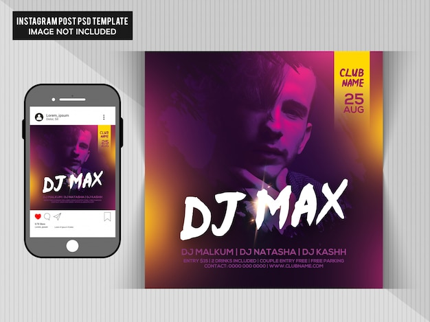 Flyer dj max party PSD Premium